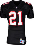 Football Collectibles:Uniforms, 1992 Deion Sanders Game Worn & Signed Atlanta Falcons Jersey....
