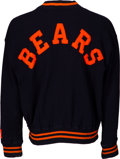 Football Collectibles:Uniforms, Early 1950's George Connor Game Worn Chicago Bears Sideline Sweater....