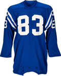 Football Collectibles:Uniforms, 1971 Ted Hendricks Game Worn Baltimore Colts Jersey - Photo Matched to 12/26 Playoff Game vs. Browns!...