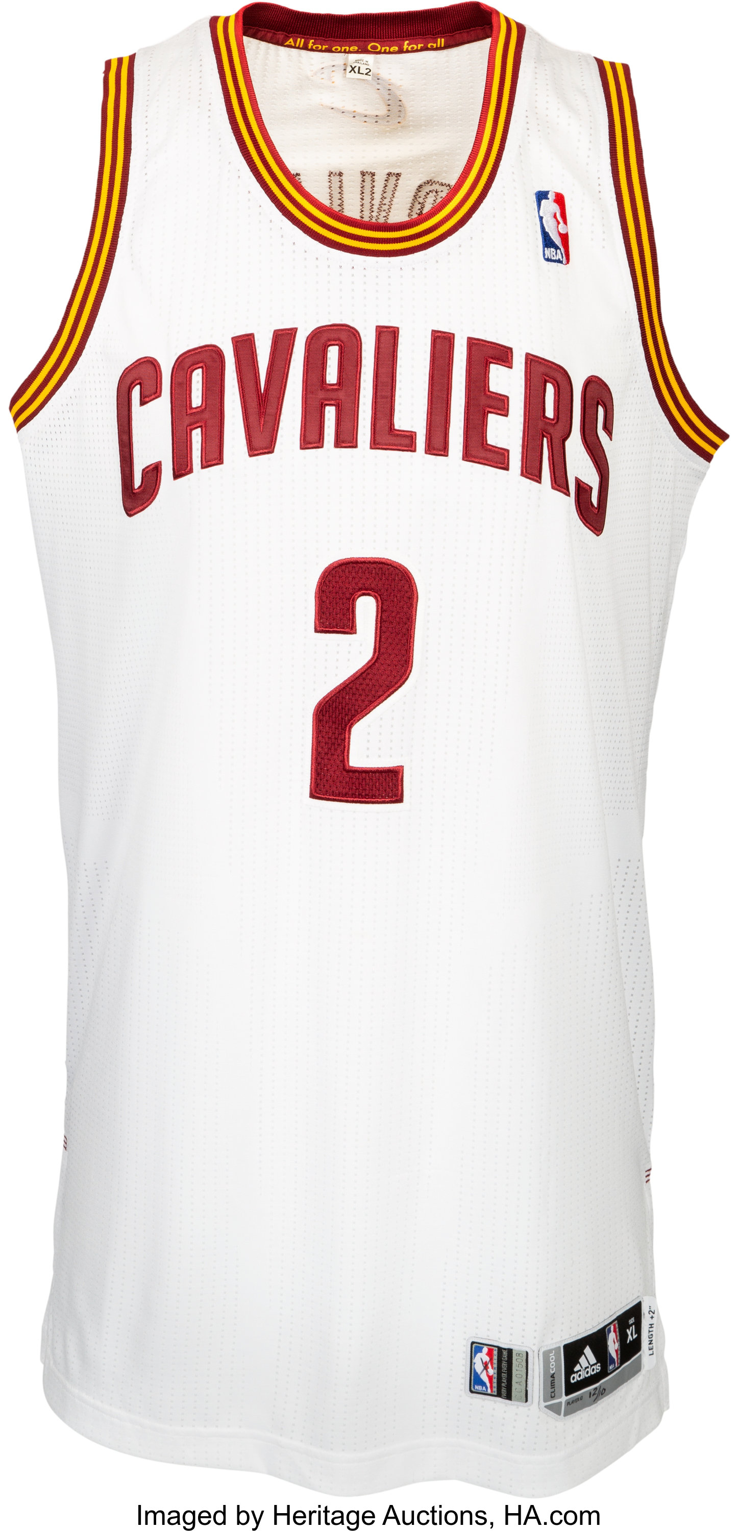 check out 1e0fd fbc37 2013-14 Kyrie Irving Game Worn Cleveland Cavaliers Jersey 12 ...