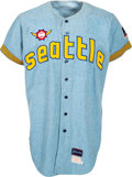 Baseball Collectibles:Uniforms, 1969 Jerry Stephenson Game Worn Seattle Pilots Jersey....