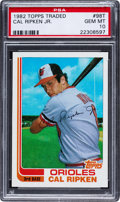Baseball Cards:Singles (1970-Now), 1982 Topps Traded Cal Ripken Jr. #98T PSA Gem Mint 10.