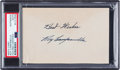 Baseball Collectibles:Others, 1950's Roy Campanella Signed Index Card, PSA/DNA Authentic....