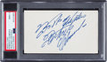 Baseball Collectibles:Others, Circa 1970 Roberto Clemente Signed Index Card, PSA/DNA Mint 9....