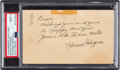 Baseball Collectibles:Others, 1949 Honus Wagner Signed Government Postcard, PSA/DNA Mint 9. ...