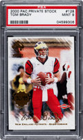 Football Cards:Singles (1970-Now), 2000 Pacific Private Stock Tom Brady Premiere Date #128 PSA Mint 9 - Numbered 32/95....