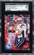 Football Cards:Singles (1970-Now), 2000 Leaf Rookies & Stars Tom Brady #134 SGC 96 Mint 9 - Numbered 544/1000....