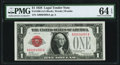 Small Size:Legal Tender Notes, Low Serial Number 4993 Fr. 1500 $1 1928 Legal Tender Note. PMG Choice Uncirculated 64 EPQ.. ...