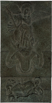 Robert Graham (American, 1938-2008) Ithuriel, 1999 Bronze relief 16 x 8 inches (40.6 x 20.3 cm) Inscribed on the rev