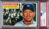Signed 1956 Topps Mickey Mantle #135 PSA/DNA Gem Mint 10
