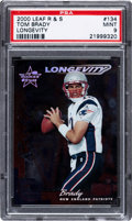 Football Cards:Singles (1970-Now), 2000 Leaf Rookies & Stars Tom Brady Longevity #134 PSA Mint 9 - Numbered 23/30 - None Higher!...