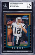 Football Cards:Singles (1970-Now), 2000 Bowman Chrome Tom Brady Refractor #236 BGS NM-MT+ 8.5....