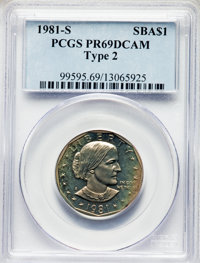 1981-S $1 Type Two PR69 Deep Cameo PCGS. PCGS Population: (4211/390). NGC Census: (2261/160). CDN: $105 Whsle. Bid for p...