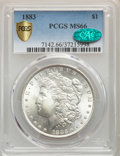 1883 $1 MS66 PCGS. CAC. PCGS Population: (1085/162). NGC Census: (819/135). CDN: $380 Whsle. Bid for problem-free NGC/PC...