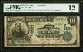 National Bank Notes:Nevada, Ely, NV - $10 1902 Date Back Fr. 618 The First NB Ch. # (P)8561 PMG Fine 12.. ...