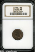 Indian Cents: , 1905 1C MS65 Red and Brown NGC. ...
