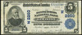National Bank Notes:Maine, Lewiston, ME - $5 1902 Plain Back Fr. 605 The Manufacturers NB Ch. # (N)2260 Very Fine.. ...