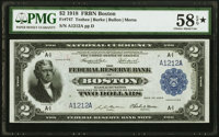 Fr. 747 $2 1918 Federal Reserve Bank Note PMG Choice About Unc 58 EPQ*