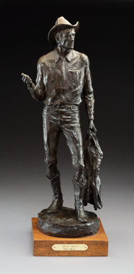 Grant Speed (American, 1930-2011) Broke Again, 1981 Bronze with brown patina 23-1/2 inches (59.7