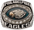Football Collectibles:Others, 2004 Philadelphia Eagles NFC Championship Ring Presented to Staff Member. ...