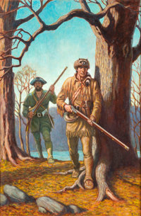 Fred Ray Tomahawk: The Long Rifle Cover Painting Original Art (1979)