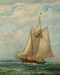 Paintings, James Gale Tyler (American, 1855-1931). At Sea. Oil on canvas. 30-1/2 x 24-1/4 inches (77.5 x 61.6 cm). Signed lower lef...