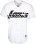 Baseball Collectibles:Uniforms, 1996 Jeff Bagwell Game Worn & Signed Houston Astros Jersey...