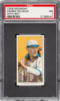 Baseball Cards:Singles (Pre-1930), 1909-11 T206 Piedmont 350-460/25 Kaiser Wilhelm (With Bat) PSA NM 7 - Only One Higher. ...