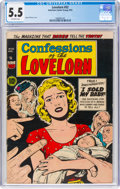Golden Age (1938-1955):Romance, Confessions of the Lovelorn #52 (ACG, 1954) CGC FN- 5.5 Off-whitepages....