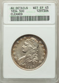 Bust Half Dollars: , 1834 50C Large Date, Large Letters, -- Cleaned -- ANACS. AU Details, Net XF45. XF45. Mintage 6,412,004. ...