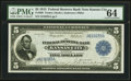 Fr. 800 $5 1915 Federal Reserve Bank Note PMG Choice Uncirculated 64