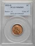 1933-D 1C MS65 Red PCGS. PCGS Population: (855/456). NGC Census: (364/342). CDN: $115 Whsle. Bid for problem-free NGC/PC...