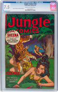 Golden Age (1938-1955):Adventure, Jungle Comics #158 (Fiction House, 1953) CGC VF- 7.5 Cream to off-white pages....
