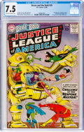 Silver Age (1956-1969):Superhero, The Brave and the Bold #29 Justice League of America (DC, 1960) CGC VF- 7.5 Off-white to white pages....