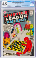 Silver Age (1956-1969):Superhero, Justice League of America #1 (DC, 1960) CGC FN+ 6.5 Off-white towhite pages....