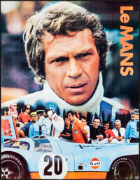 "Le Mans (Cinema Center, 1971). Rolled, Very Fine+. Gulf Promotional Poster (17"" X 22""). Sports"