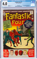 Silver Age (1956-1969):Superhero, Fantastic Four #11 (Marvel, 1963) CGC VG 4.0 Off-white to whitepages....