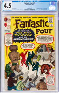 Silver Age (1956-1969):Superhero, Fantastic Four #15 (Marvel, 1963) CGC VG+ 4.5 White pages....