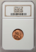 1949-S 1C MS67 Red NCS. NGC Census: (570/0). PCGS Population: (298/0). CDN: $150 Whsle. Bid for problem-free NGC/PCGS MS...