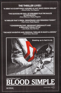 """Blood Simple (Circle Films, 1985). Rolled, Very Fine+. One Sheets (10) Identical (24.25"""" X 39.75""""). Thriller..."""