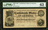 T64 $500 1864 PF-2 Cr. 489 PMG Choice Uncirculated 63