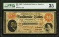 Confederate Notes:1861 Issues, T24 $10 1861 PF-11 Cr. 164 PMG Choice Very Fine 35.. ...