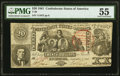 Confederate Notes:1861 Issues, T20 $20 1861 PF-5 Cr. 141 PMG About Uncirculated 55.. ...