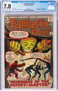 Silver Age (1956-1969):Superhero, Fantastic Four #8 (Marvel, 1962) CGC FN/VF 7.0 Off-white to whitepages....