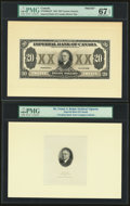 Canada Imperial Bank of Canada $20 1.11.1933 Ch.# 375-20-06afp Proof With Archival Vignette PMG Superb Gem Unc 67 EPQ...