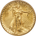 High Relief Double Eagles, 1907 $20 High Relief, Wire Rim AU58 ANACS....
