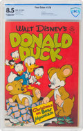 Golden Age (1938-1955):Cartoon Character, Four Color #178 Donald Duck (Dell, 1947) CBCS VF+ 8.5 Off-white to white pages....
