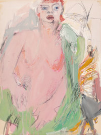 Paul Wonner (American, 1920-2008) Untitled (Female Nude), 1959 Tempera and pencil on paper 23-3/4