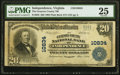 Independence, VA - $20 1902 Plain Back Fr. 658 The Grayson County NB Ch. # 10834 PMG Very Fine 25.<