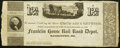 Obsoletes By State:Maryland, Hagerstown, MD- Franklin House Rail Road Depot 12 1/2¢ ND circa 1840s Shank 60.4.2 Remainder Fine.. ...